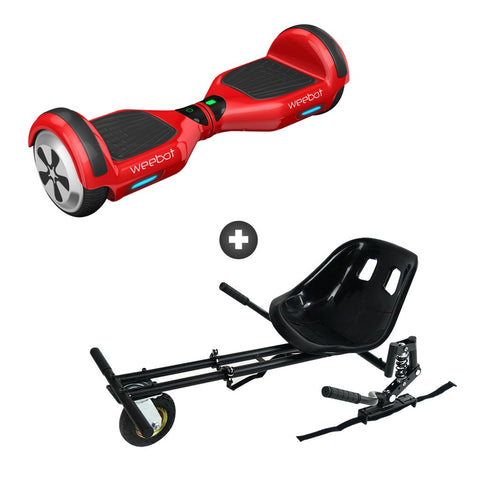 pack hoverkart hoverboard weebot classic rouge pas cher