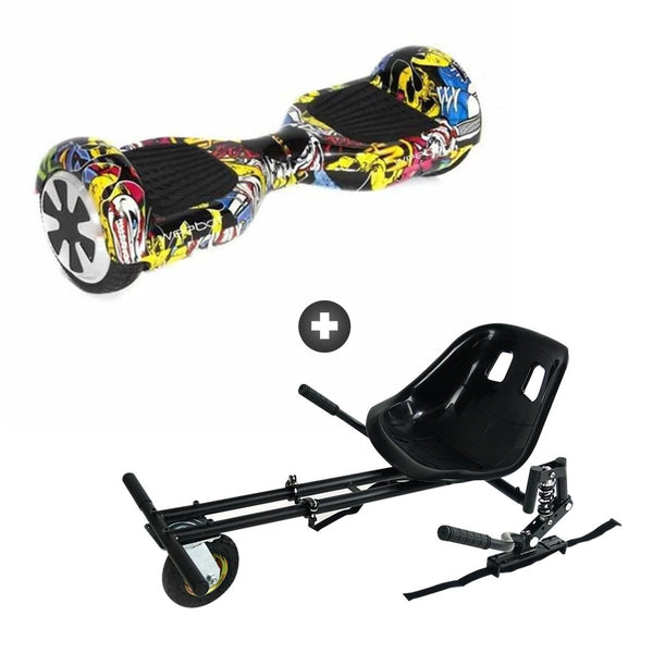 pack hoverkart hoverboard weebot classic tag pas cher