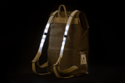 sac a dos galuchon natural pop noir led arriere