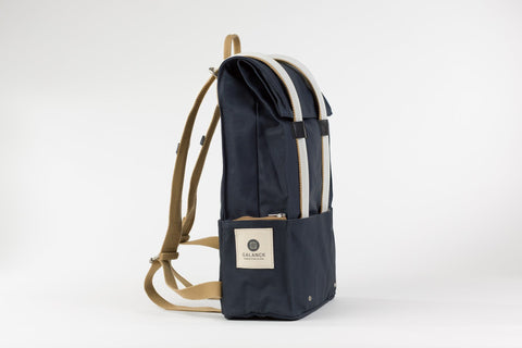 sac a dos galuchon natural pop coton bleu connecte