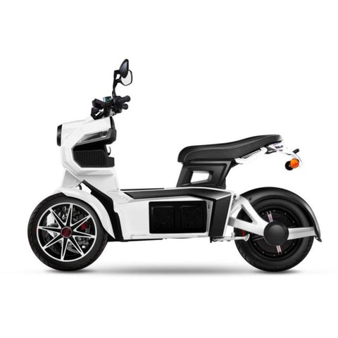 scooter electrique 3 roues doohan itank 50 blanc
