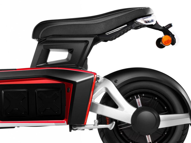 scooter electrique 3 roues doohan itank 50 rouge clignotants