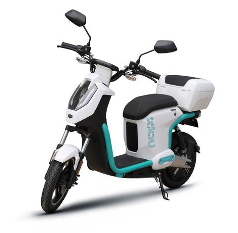 scooter electrique doohan idou 50 blanc top case