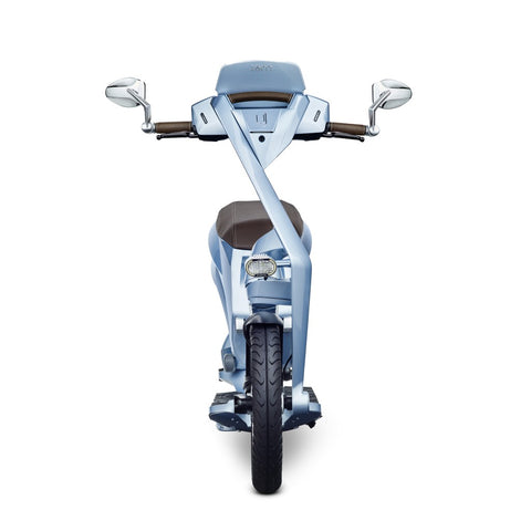 scooter electrique pliable ujet vue avant phare led