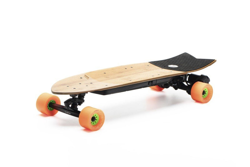 stakeboard electrique evolve stoke roue orange