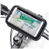 support smartphone velo electrique paysage