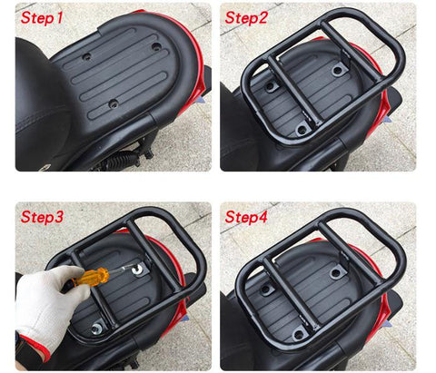 support top case scooter niu u1 installation