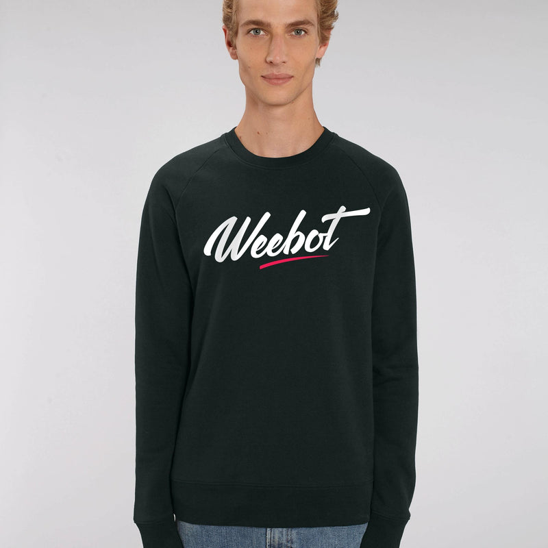 sweat shirt weebot fresh col rond noir homme