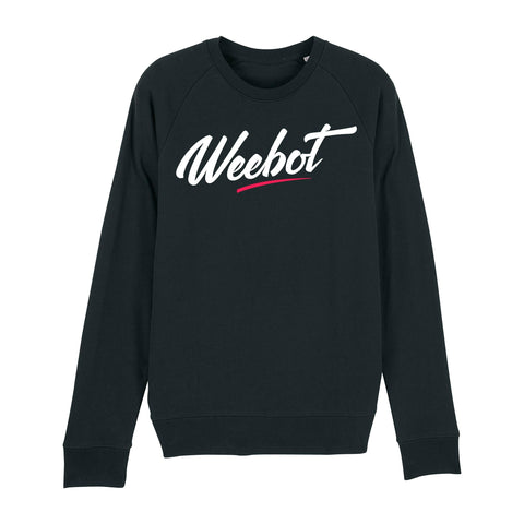 sweat shirt weebot fresh col rond noir