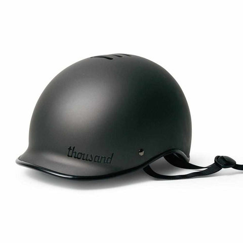 thousand casque velo noir monochrome stealth black visiere