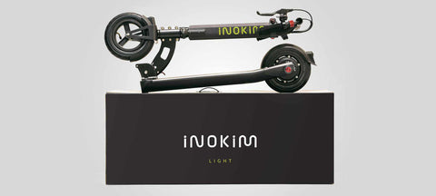 Trottinette Electrique Inokim Light 1 hero noir carton box