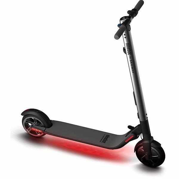 trottinette electrique ninebot es2 segway led rouge