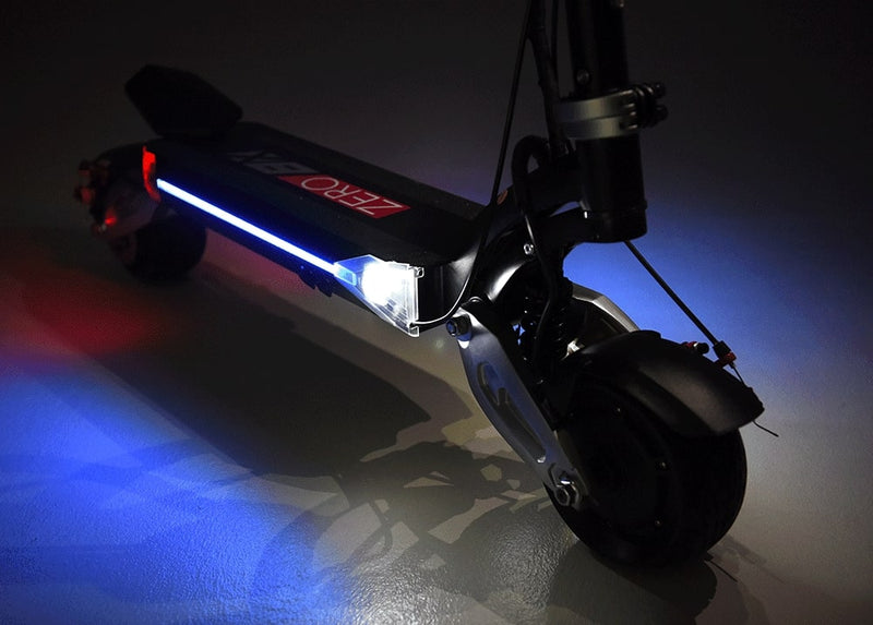 trottinette electrique zero 8x phare led avant