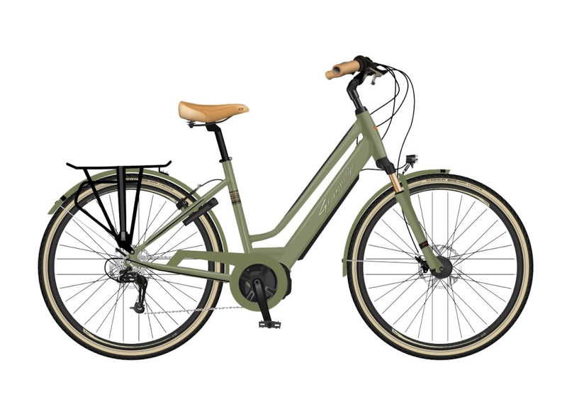 velo electrique granville e-smooth-20 olive vert 400wh