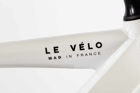 velo electrique mad in france blanc logo