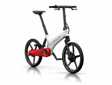 velo electrique pliant gocycle gs rouge blanc batterie