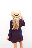 Navy Bell Sleeve Dress - Lovelea Boutique