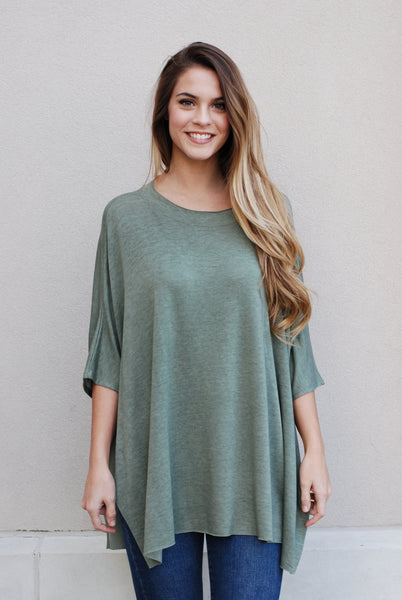 Olive Open Sides Top - Lovelea Boutique