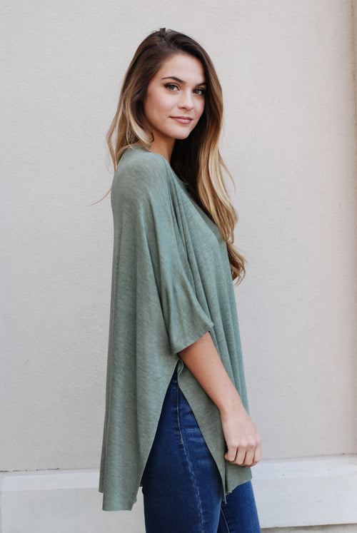 Olive Open Sides Top - Paperback Boutique