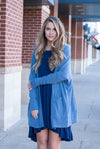 Peach Love California Cardigan in Blue - Paperback Boutique