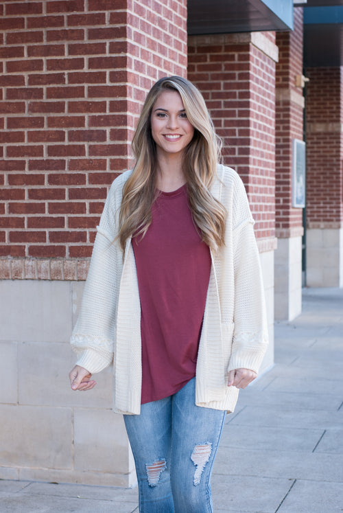 Lazy Sunday Comfy Knit Cardigan - Lovelea Boutique