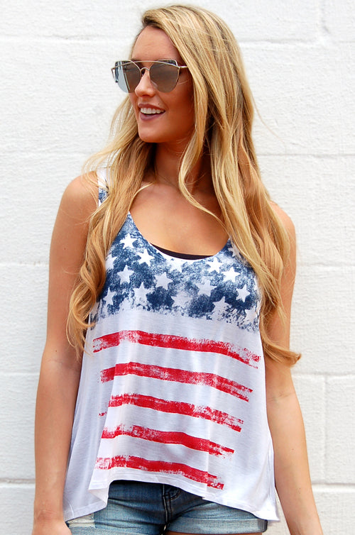 American Flag USA Tank Top - Paperback Boutique