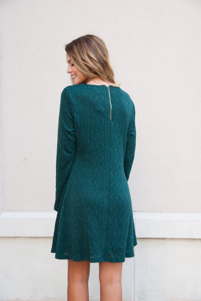 Perfect Knit Sweater Dress in Hunter Green - Paperback Boutique