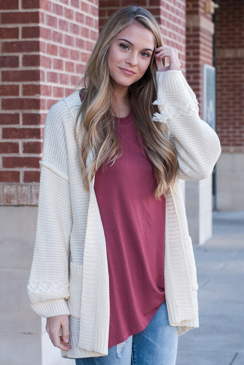 Lazy Sunday Comfy Knit Cardigan - Paperback Boutique