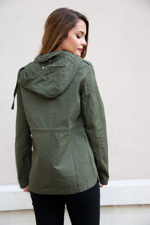Army Green Vintage Patch Jacket - Lovelea Boutique