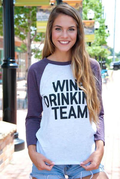 Wine Drinking Team Tee