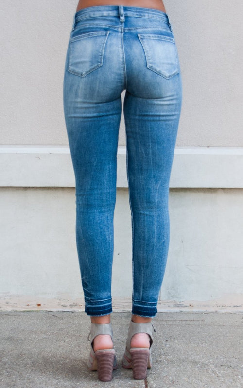 Distressed Denim Jeans - Paperback Boutique