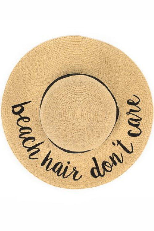 Beach Hair, Don't Care Sunhat - Paperback Boutique