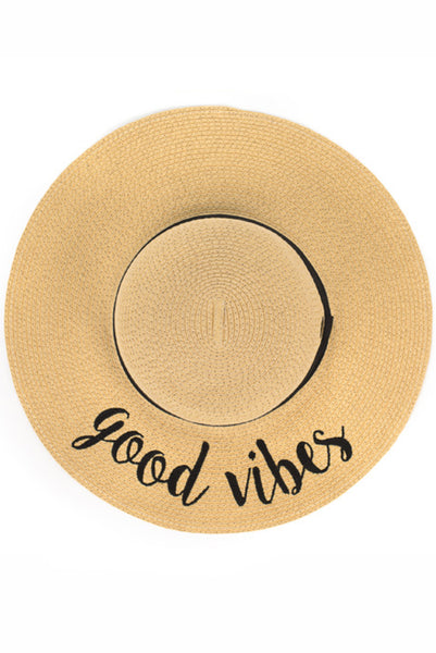 Good Vibes Sunhat - Paperback Boutique