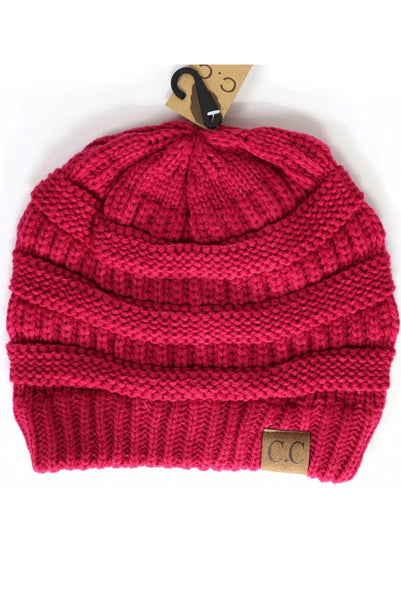Hot Pink C.C Beanie - Paperback Boutique