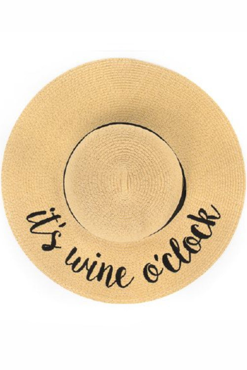It's Wine O'Clock Sunhat - Paperback Boutique