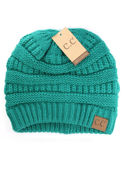 Sea Green C.C Beanie - Lovelea Boutique