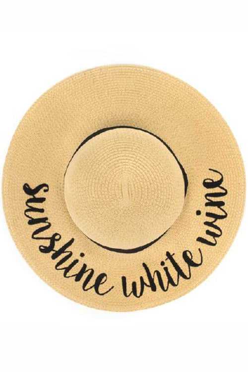 Sunshine White Wine Sunhat - Paperback Boutique
