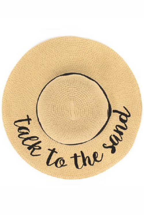 Talk to the Sand Sunhat - Paperback Boutique