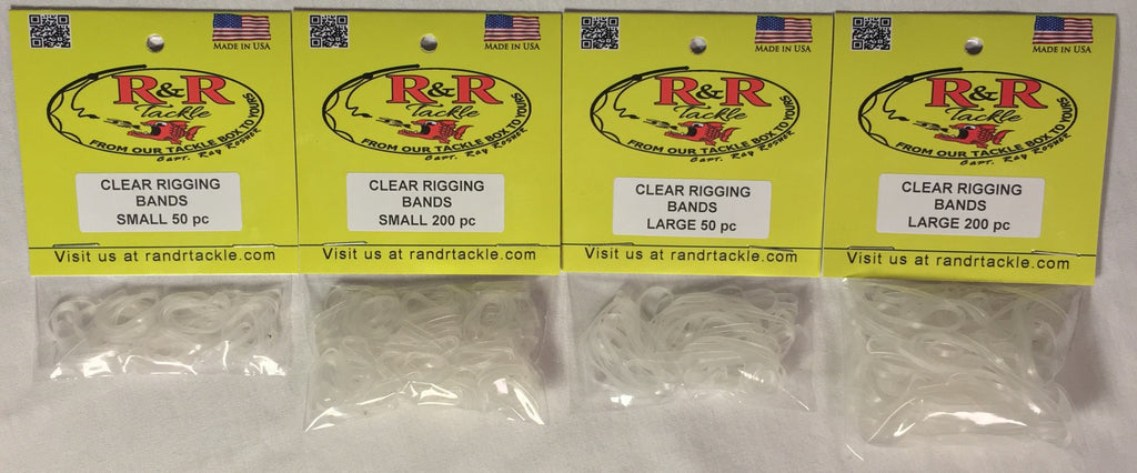 Clear Bait Rigging Bands Small