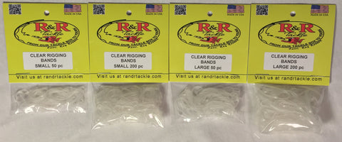 Clear Bait Rigging Bands Large