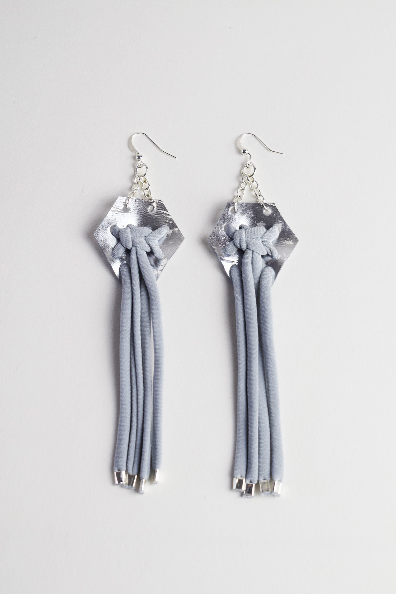 DIAMOND MACRAMÉ EARRINGS