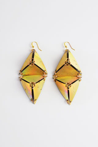 DOUBLE PYRAMID EARRINGS