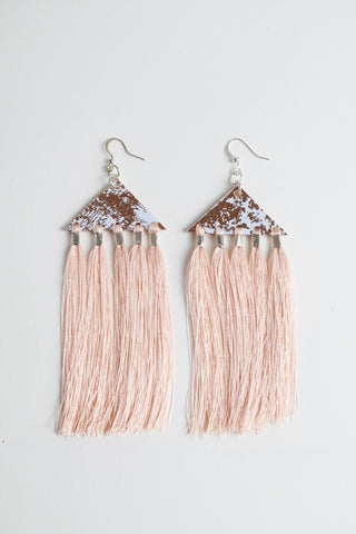 FRINGED TRIANGLE EARRINGS
