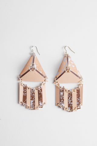 PYRAMID DRAPE EARRINGS