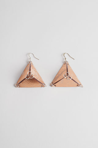 SINGLE PYRAMID EARRINGS