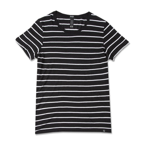 Short Sleeve black Stripe Tee
