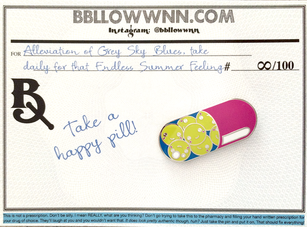 Happy Pill Pin - Endless Summer Varient