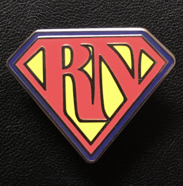 Nursing Superhero RN Hard Enamel bbllowwn pin