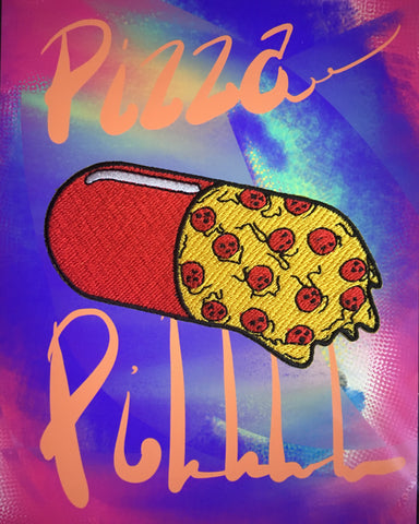 Pizza Pill Patch (iron-on)!