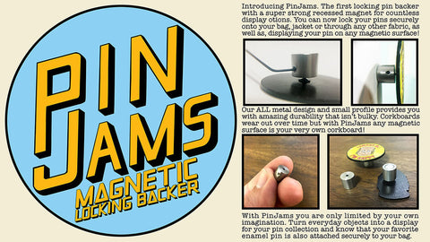 PinJams Magnetic Locking Backs (5 Pack)